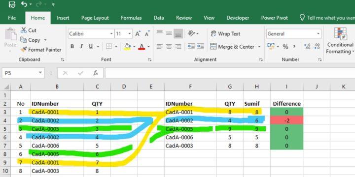 Excel magic for BOM check